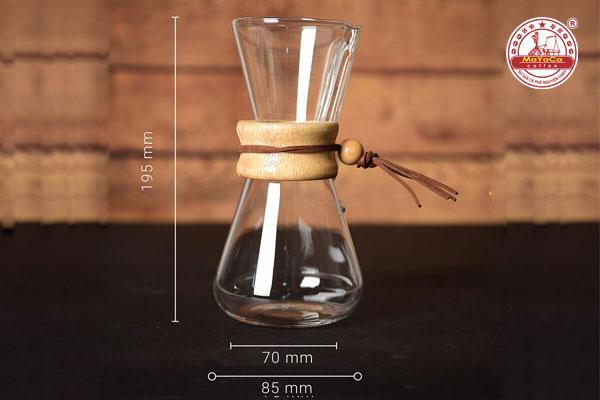 Dụng cụ pha cà phê kiểu Mỹ bọc gỗ ở giữa (500ml)