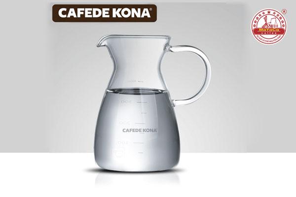 Bình thủy tinh phục vụ cà phê không nắp (700 ML)
