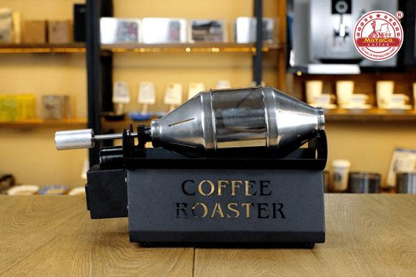 Máy rang cà phê mini màu đen
