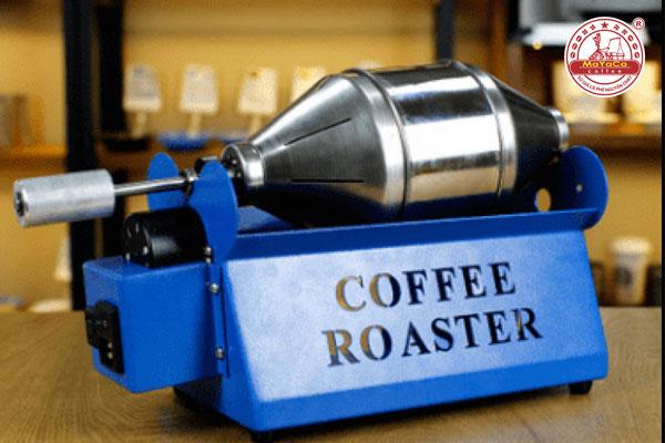 Máy rang cà phê mini màu xanh