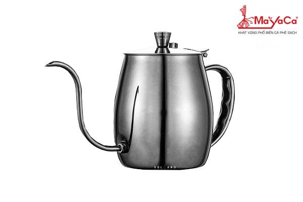 Ấm Drip cà phê bằng thép (đen – 700 ML)