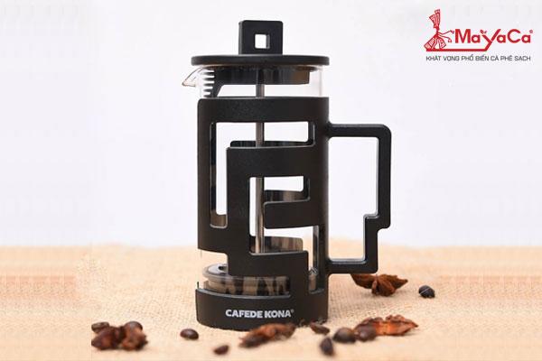 Bình pha cafe French Press màu đen dùng cho 2-4 người