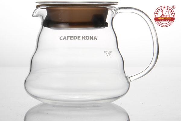 Bình thủy tinh phục vụ cà phê có nắp (360 ML)