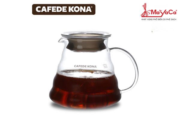 Bình thủy tinh phục vụ cà phê có nắp (600 ML)