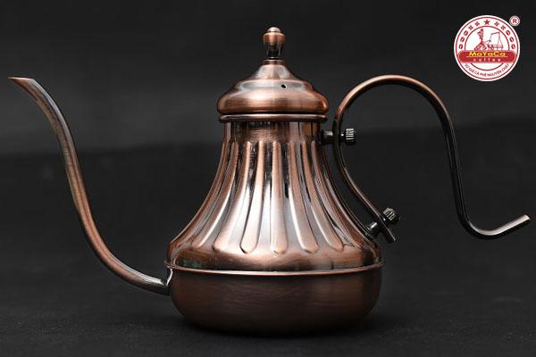 Ấm rót nước nóng cafe màu đồng 600ml