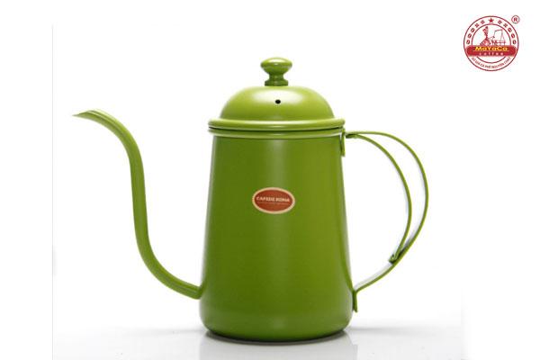 Ấm Drip cà phê bằng thép (xanh – 700 ML)