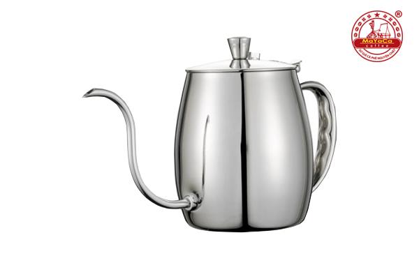 Ấm Drip cà phê bằng thép (bạc – 700 ML)