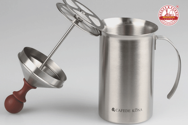 Bình đánh sữa bằng inox nắp màu nâu (200ML)