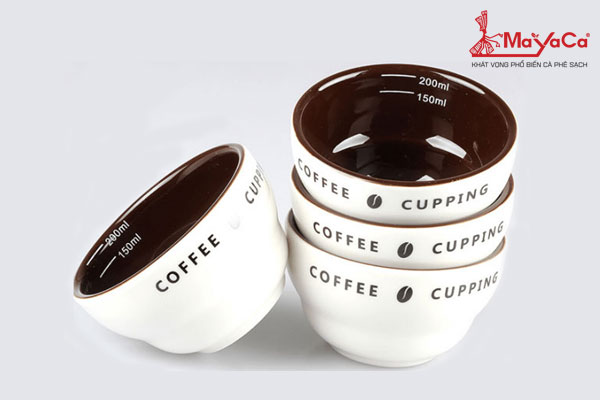 Chén sứ chuyên thử nếm cupping cà phê