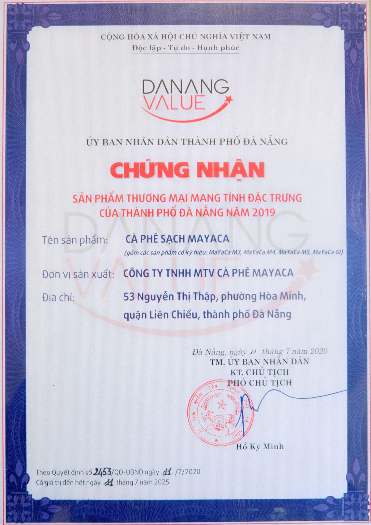 bang-chung-nhan-sp-thuong-mai-dac-trung-da-nang-2019-danh-cho-mayaca