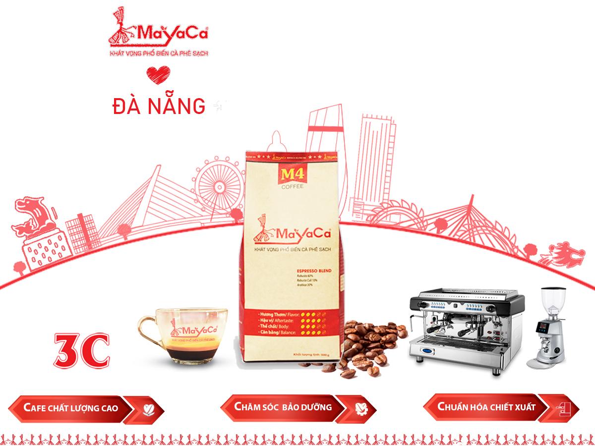 Cafe hạt pha máy espresso - mayaca coffee